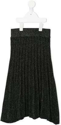 Molo Beatrice metallic pleated skirt