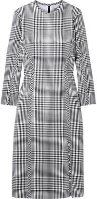Lela Rose Checked Wool Dress