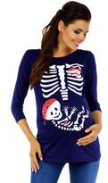 Zeta Ville Fashion Zeta Ville Womens Maternity Halloween Baby Skeleton Funny Tee Shirt X-ray 574c