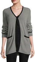 Marc Jacobs Women's Striped V-Neck Sweater