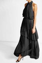 Elie Saab Pleated Halterneck Maxi Dress