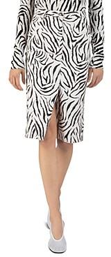 ATM Anthony Thomas Melillo Zebra Printed Denim Skirt