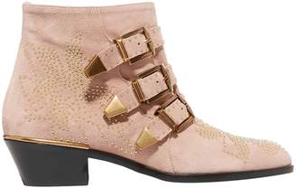 Chloé Buckle-embellished Studded Ankle Boots