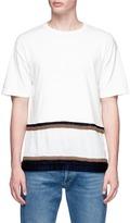 John Undercover Johnundercover Floral jacquard hem T-shirt