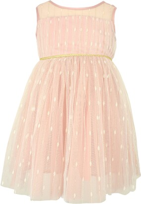 Popatu Kids' Embroidered Mesh & Tulle Dress