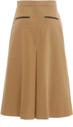 REJINA PYO Hazel Pleated Cotton Midi Skirt