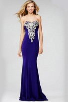 Jovani Strapless Long Fitted Prom Dress 20015