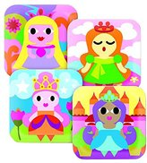 "French Bull 8"" Plate, (Set of 4), Princess Kids"