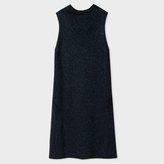 Paul Smith Women's Glittered Navy Wool-Blend Knitted Dress