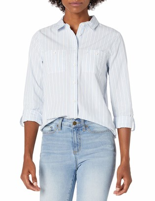 Sperry Women's Two Pocket Roll Sleeve Button Up Shirt