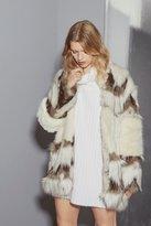 French Connection Devonna Mix Faux Fur Coat