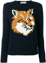 MAISON KITSUNÉ fox intarsia jumper - women - Lambs Wool - M