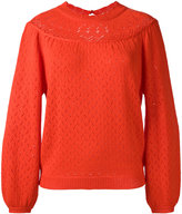 Manoush perforated pullover - women - Acrylic/Wool - S