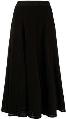 Karl Lagerfeld Paris Lurex Pleated Skirt