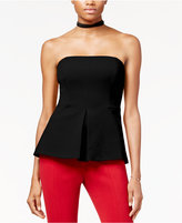 Rachel Roy Strapless Peplum Top, Only at Macy's