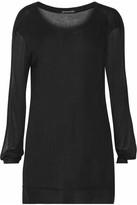 Ann Demeulemeester Cutout Jersey Top - Black