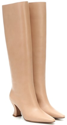 Bottega Veneta Almond leather knee-high boots