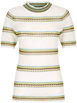 Sandro Striped Pointelle T-Shirt