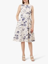 Hobbs Twitchill Dress, Ivory/Navy