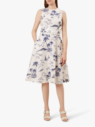 Hobbs Twitchill Dress, Ivory/Navy