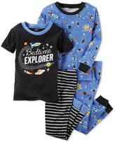 Carter's 4-Pc. Bedtime Explorer Cotton Glow-In-The-Dark Pajama Set, Baby Boys