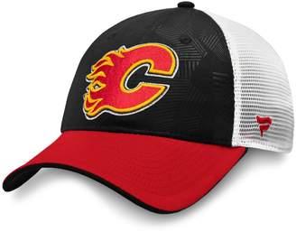 Fanatics Calgary Flames NHL Revise Iconic Adjustable Trucker Cap