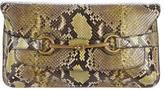 Gucci Python Bright Bit Clutch