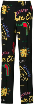 Etro Printed Palazzo Trousers