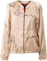 Castlebird Rose Silk Bomber Jacket Sunset Gold
