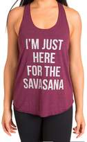 Inner Fire I'm Just Here For The Savasana Tank Top, Blue