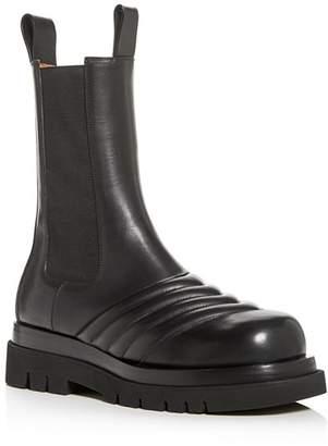 Bottega Veneta Men's Leather Platform Chelsea Boots