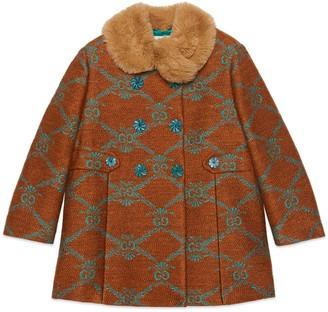 Gucci Children's GG lame linen coat