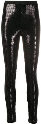 Love Moschino Lurex Shiny Leggings