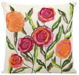 Nourison Beaded Floral Pillow