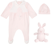 Emile et Rose Lily Rose Bunny Two Piece Set, Pink/White