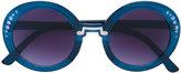 MonnaLisa round frame sunglasses - kids - Acrylic - One Size