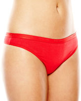 Ambrielle Cotton Tailored Thong Panties