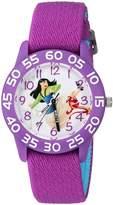 Disney Girl's 'Mulan' Quartz Plastic and Nylon Casual Watch, Color: (Model: WDS000199)