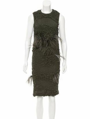Nina Ricci Spring 2016 Silk Dress Green