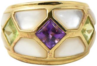 One Kings Lane Vintage Kai Yin Lo Vermeil Gemstone Ring - Owl's Roost Antiques