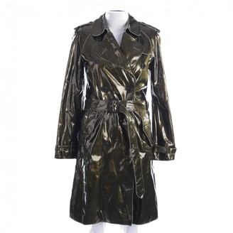 Burberry Green Patent leather Trench Coat for Women