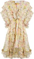 Zimmermann Valour floral-print ruffled silk-crepon dress