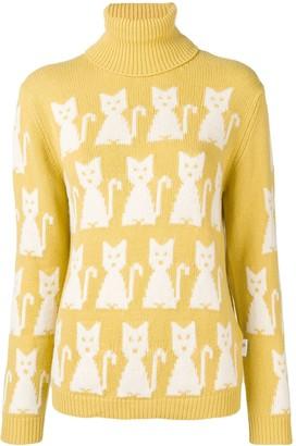 MONCLER GRENOBLE Kitten-Intarsia Sweater