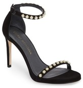 Stuart Weitzman Women's Nudistpearls Embellished Sandal