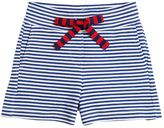 Simonetta Stripes Print Cotton Interlock Shorts