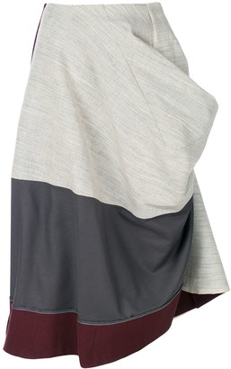 Comme Des Garçons Pre Owned 1998 Deconstructed Draped Skirt