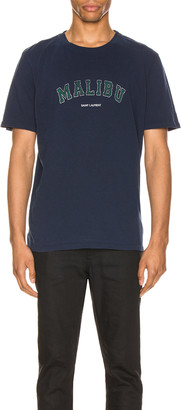Saint Laurent Malibu Tee in Marine | FWRD