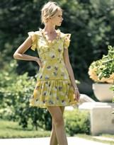J.o.a. Frill Sleeve Floral Skater Dress