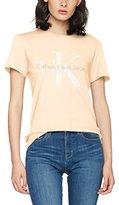 Calvin Klein Jeans Women's Shrunken Tee True Icon Sp17 T-Shirt,(Manufacturer Size: X-Large)