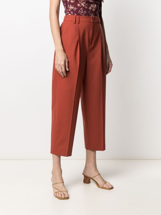 Thumbnail for your product : Pt01 Tapered Cropped Leg Trousers
